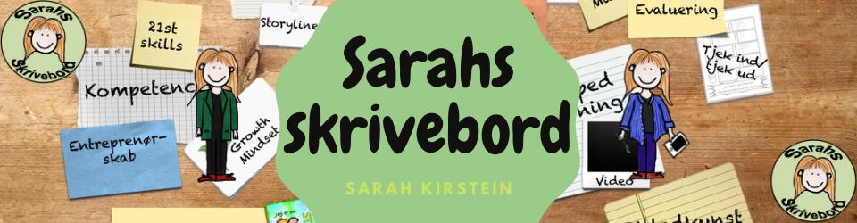 Sarahs skrivebord